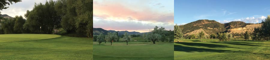Nine holes in a classic Western setting